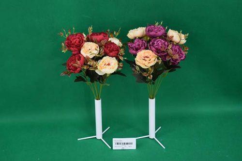 Umelé kvety Kytica ruža divá x9 35cm