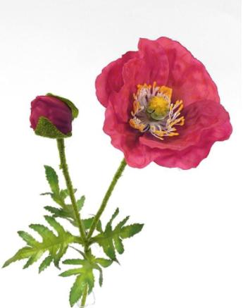Umelé kvety Mak x2 60cm