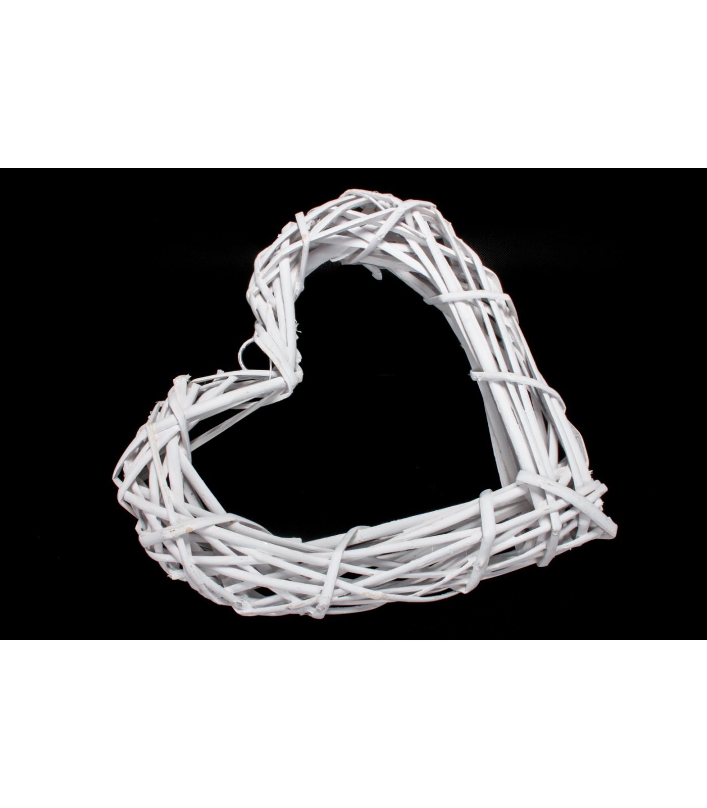 Srdce prútené otvorené 30cm