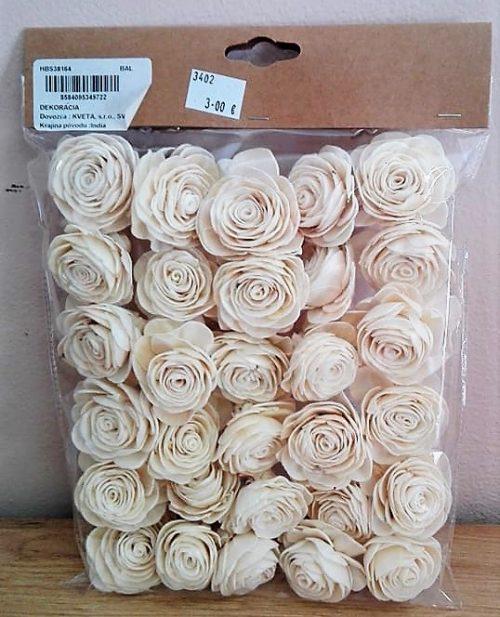 Sušina shola rose 3-4cm 30ks