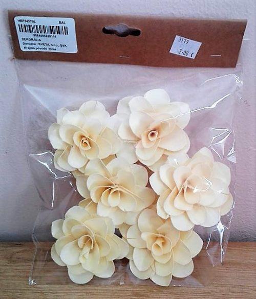 Sušina kvety 8cm 6ks
