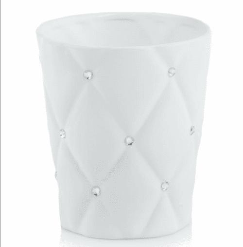 Kvetináč obal glamour biely 14cm