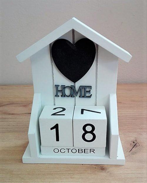 Domček drevený kalendár 16x12cm